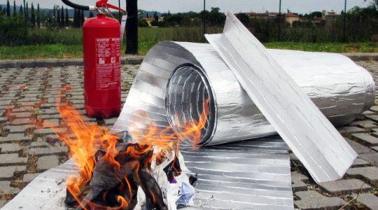 materiale schermante con classe di reazione al fuoco A1