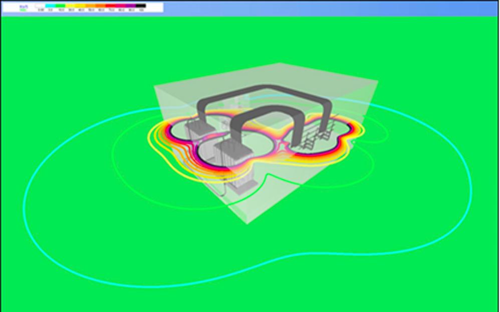 simulazione di impatto magnetico 3D